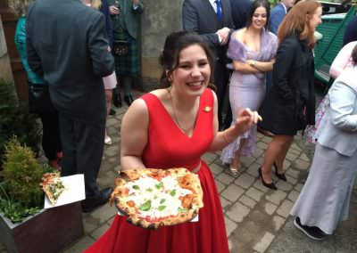 Bride With Pizza